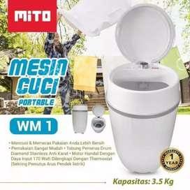 Mesin Cuci mini Portable mito mw1 Hemat tempat mudah dibawa kemana aja