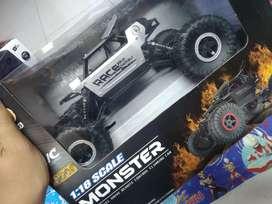 Mainan anak remote control 4 wd bahan besi baru yah