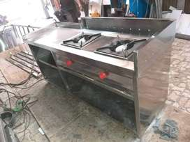 Brand new 2 Burner Steel fast Food ,Pav Bhaji Tikki Counter