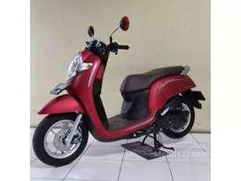 Honda Scoopy Merah Duff di Djaya Motor Antasari