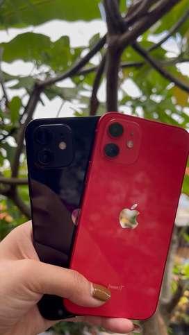Iphone 12 64GB warna red & black 2ND