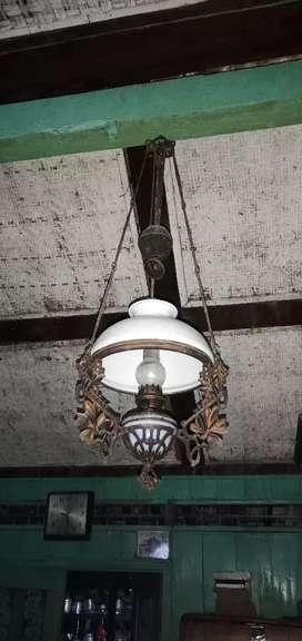 Lampu gantung kuno antik original ukuran 28