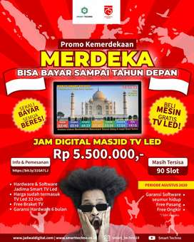 Promo Jam Masjid TV Led Sleman, Komplit Plus TV 32 Inch
