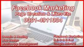 Facebook Marketing & Google Ad || Website Designing & Development