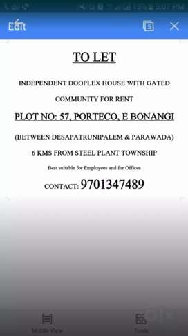 New Duplex house for 7000 in porteco parawada near desapatruni palem