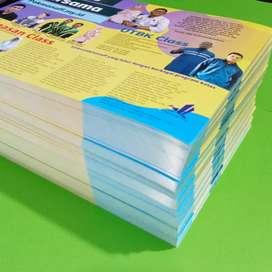 Brosur cetak kertas konstruk