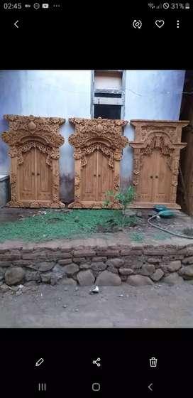 Jendela kusen uk 100x 150 m kayu jati uker jepara antik tanpa dp