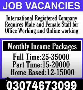 Staff required for students Male and Female
