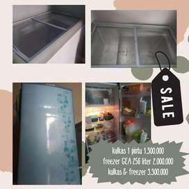 Dijual Paket Kulkas Sharp 1 Pintu dan Freezer GEA 256 liter murah