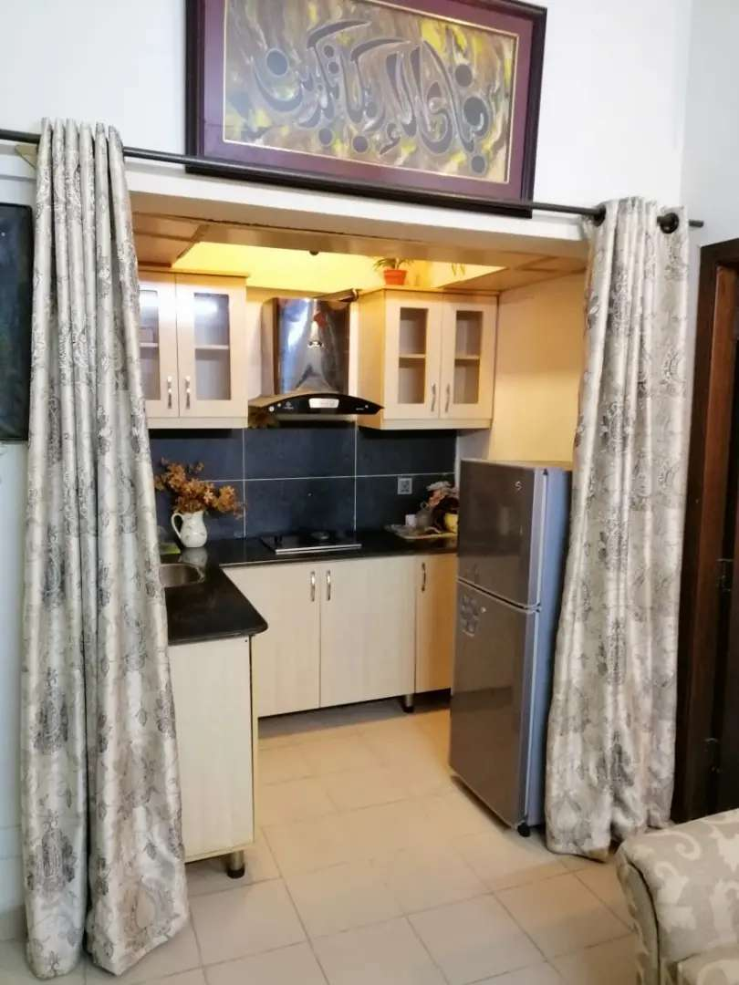 Fully furnished 1 bed apartment available for rent in DHA 2 Islamabad 0