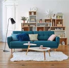 Sofa retro tipe minimalis ruang tamu