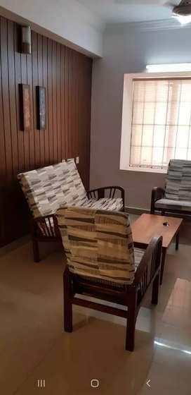 Kalathipady 3 bedroom semi furnished apartment 13k + 2k maintenance