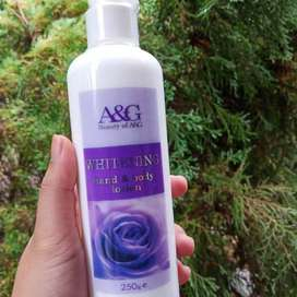 A&G Whitening Body Lotion with AHA/ BPOM