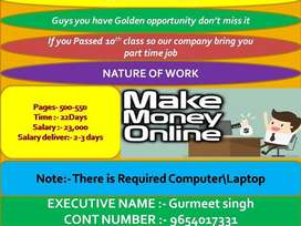 u can earn money in at home
