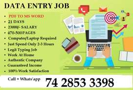 Data Entry Operators are Recruited -- For Typing Work