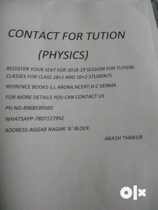 Physics classes for 11 and 12 class 0