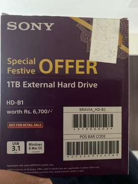 Sony 1TB External Hard disk