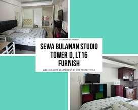 Sewa Bulanan di Bassura City Studio Furnish Lt.16 Tower D - 0310VIA18