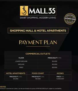 Mall 35 investment opportunity 30% dawn payment and 3 year easy instal