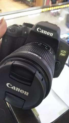 Kamera canon 750D gratis 1x cicilan