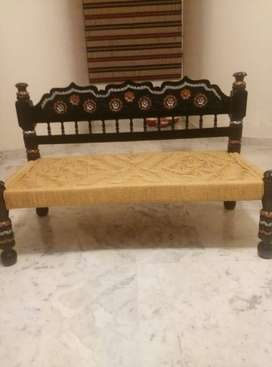 Hala Wooden 4 Seater Sofa with Table