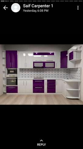 Modular kitchen  HDHMR board & wallpapers