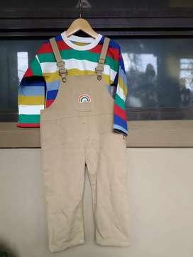 Setelan baju anak jumpsuit Rainbow