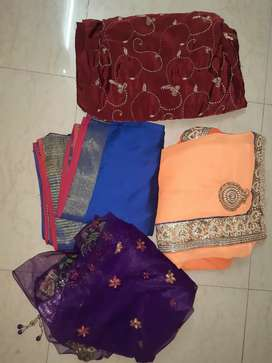 Used Sarees, all very good conditions - 13 units total
