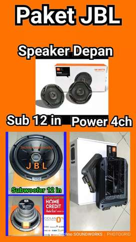 Full JBL paket sound murah for tv mobil speaker power sub bass 12in