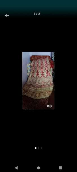 Used Red color lehenga bought from Delhi