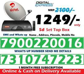 New  Airtel DTH Dish HD SD Box All india Lower price offer @1249