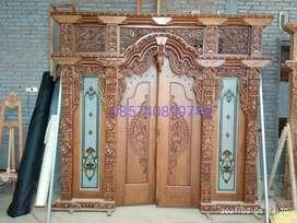 Pintu kusen gebyok kayu jati kopkan