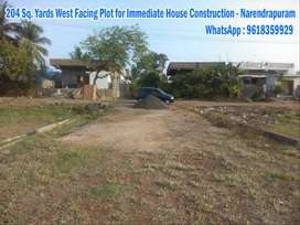 2 West Plots for Immediate House Construction At Narendra puram