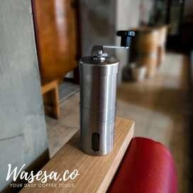 grinder manual stainless ceramic/alat kopi/kopi giling/alat dapur