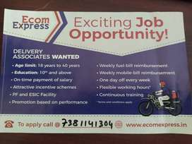 Delivery boy required urgently Ecom Express for Angul Location