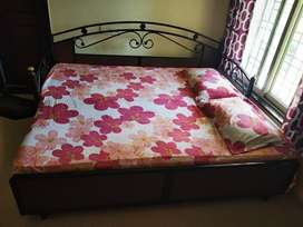 Wrought Iron Sofa cum Bed with storage and mattress