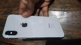 I phone x 64gb color silver