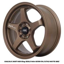 velg model sporty hsr kailolo ring 15 pas untuk mobil brio agya vios