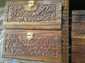 """Size 8"""" Hand Carved Artistry  Pure Sheesham Wood"""
