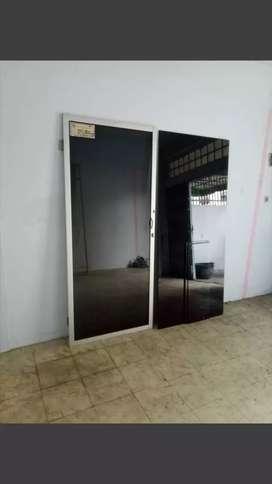 Dijual MURAH 1 unit pintu kc htm kusen aluminium & 3 bh kc htm (nego)