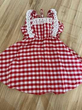 Dress katun merah