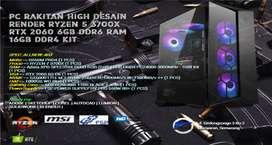 PC RAKITAN HIGH END RYZEN 7 3700X | XPG D60 16GB KIT | RTX 2060