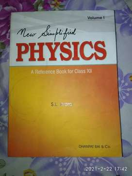 New Simplified Physics by S.L. Arora for Class 12