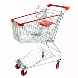 Storage racks and shopping trolley