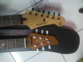 Gitar yamaha pacifica antik dan kece dapet neck 2 buah buat ganti