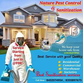 Nature pest control and sanitization services