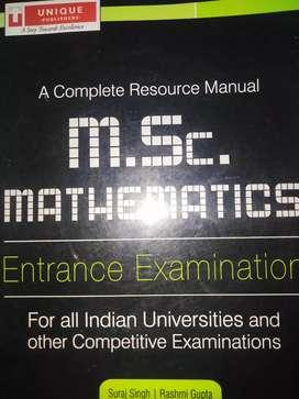 M.Sc. MATHEMATICS  Entrance examination