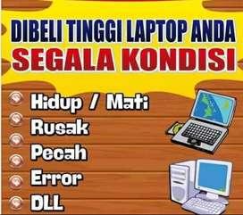 Dibeli laptop notebook dan komputer bekas, error mati dll