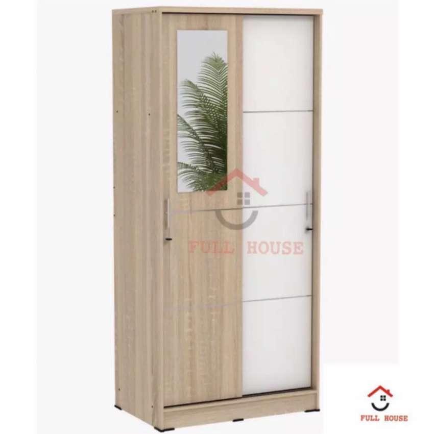Lemari pakaian pintu geser panjang 90cm 0