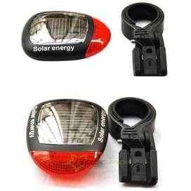 Lampu Belakang Solar Tenaga Energy Rechargeable Tail Light Back Sepeda